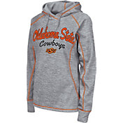 Colosseum Women's Oklahoma State Cowboys Grey Crossneck Pullover Hoodie