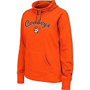 Colosseum Women's Oklahoma State Cowboys Orange Funnel Neck Fleece Pullover