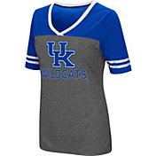 Colosseum Women's Kentucky Wildcats Grey McTwist Jersey T-Shirt
