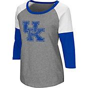 Colosseum Women's Kentucky Wildcats Grey Raglan T-Shirt
