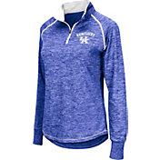 Colosseum Women's Kentucky Wildcats Blue Bikram Quarter-Zip Top