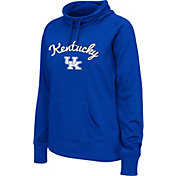 Colosseum Women's Kentucky Wildcats Blue Funnel Neck Fleece Pullover