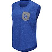 Colosseum Athletics Women's Kentucky Wildcats Blue Pocket Tank Top