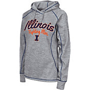 Colosseum Women's Illinois Fighting Illini Grey Crossneck Pullover Hoodie