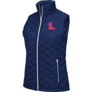 Colosseum Women's Ole Miss Rebels Blue Elite Quilted Full-Zip Vest