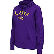 Colosseum Women's LSU Tigers Purple Funnel Neck Fleece Pullover