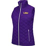 Colosseum Women's LSU Tigers Purple Elite Quilted Full-Zip Vest