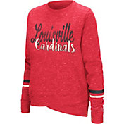 Colosseum Women's Louisville Cardinals Cardinal Red Birdie Fleece Pullover