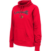 Colosseum Women's Louisville Cardinals Cardinal Red Funnel Neck Fleece Pullover