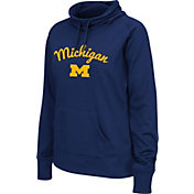 Colosseum Women's Michigan Wolverines Blue Funnel Neck Fleece Pullover