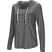 Colosseum Women's Michigan State Spartans Grey Podium Featherweight Hoodie