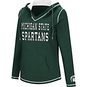 Colosseum Women's Michigan State Spartans Green Spike Fleece Hoodie