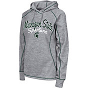 Colosseum Women's Michigan State Spartans Grey Crossneck Pullover Hoodie