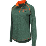 Colosseum Women's Miami Hurricanes Green Bikram Quarter-Zip Top