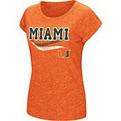 Colosseum Athletics Women's Miami Hurricanes Orange Speckled Yarn T-Shirt