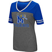 Colosseum Women's Memphis Tigers Grey McTwist Jersey T-Shirt