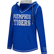 Colosseum Women's Memphis Tigers Blue Spike Fleece Hoodie