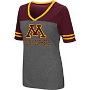 Colosseum Women's Minnesota Golden Gophers Grey McTwist Jersey T-Shirt