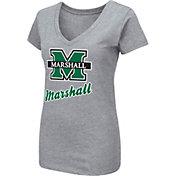 Colosseum Women's Marshall Thundering Herd Grey Dual Blend V-Neck T-Shirt