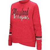 Colosseum Women's Maryland Terrapins Red Birdie Fleece Pullover