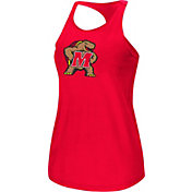 Colosseum Women's Maryland Terrapins Red Mesh Tank