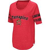 Colosseum Women's Maryland Terrapins Red Bean Babbitt Raglan T-Shirt