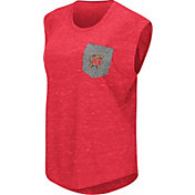 Colosseum Women's Maryland Terrapins Red Pocket Tank Top