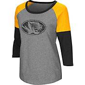 Colosseum Women's Missouri Tigers Grey Raglan T-Shirt