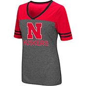 Colosseum Women's Nebraska Cornhuskers Grey McTwist Jersey T-Shirt