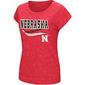 Colosseum Athletics Women's Nebraska Cornhuskers Red Speckled Yarn T-Shirt