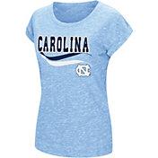 Colosseum Athletics Women's North Carolina Tar Heels Carolina Blue Speckled Yarn T-Shirt