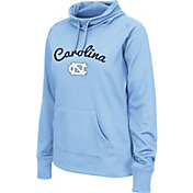 Colosseum Women's North Carolina Tar Heels Carolina Blue Funnel Neck Fleece Pullover