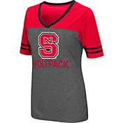 Colosseum Women's North Carolina State Wolfpack Grey McTwist Jersey T-Shirt