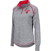Colosseum Women's NC State Wolfpack Grey Bikram Quarter-Zip Top