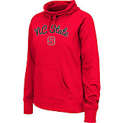 Colosseum Women's NC State Wolfpack Red Funnel Neck Fleece Pullover