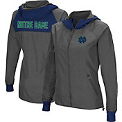 Colosseum Women's Notre Dame Fighting Irish Charcoal Backside Hooded Jacket