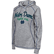 Colosseum Women's Notre Dame Fighting Irish Grey Crossneck Pullover Hoodie
