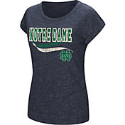 Colosseum Athletics Women's Notre Dame Fighting Irish Navy Speckled Yarn T-Shirt