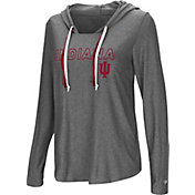 Colosseum Women's Indiana Hoosiers Grey Podium Featherweight Hoodie