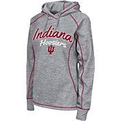 Colosseum Women's Indiana Hoosiers Grey Crossneck Pullover Hoodie