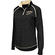 Colosseum Women's Purdue Boilermakers Black Bikram Quarter-Zip Top