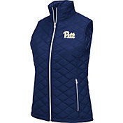 Colosseum Women's Pitt Panthers Blue Elite Quilted Full-Zip Vest