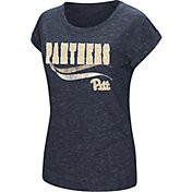 Colosseum Women's Pittsburgh Panthers Blue Speckled Yarn T-Shirt