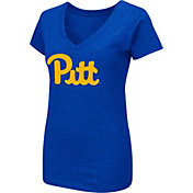 Colosseum Women's Pittsburgh Panthers Blue Dual-Blend T-Shirt