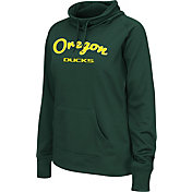 Colosseum Women's Oregon Ducks Green Funnel Neck Fleece Pullover