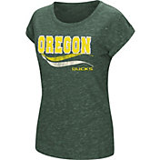 Colosseum Athletics Women's Oregon Ducks Green Speckled Yarn T-Shirt