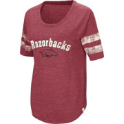Colosseum Women's Arkansas Razorbacks Cardinal Bean Babbitt Raglan T-Shirt