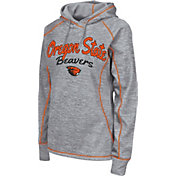 Colosseum Women's Oregon State Beavers Grey Crossneck Pullover Hoodie