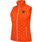 Colosseum Women's Oregon State Beavers Orange Elite Quilted Full-Zip Vest