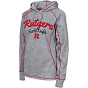 Colosseum Women's Rutgers Scarlet Knights Grey Crossneck Pullover Hoodie